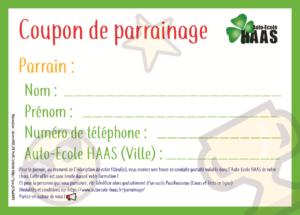 Coupon parrainage - Auto-Ecole HAAS