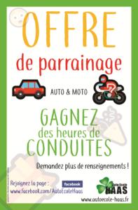 Poster parrainage - Auto-Ecole HAAS